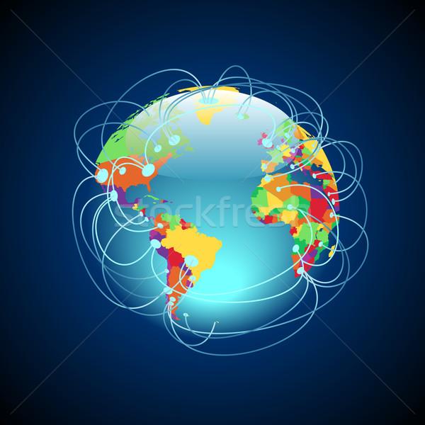 всемирный красочный мира подробный Сток-фото © ildogesto