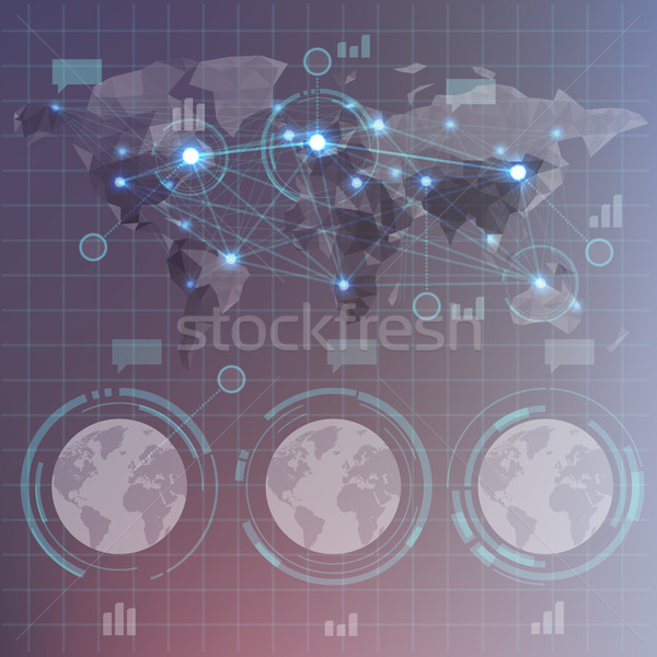 Futuristic HUD infographics Stock photo © ildogesto