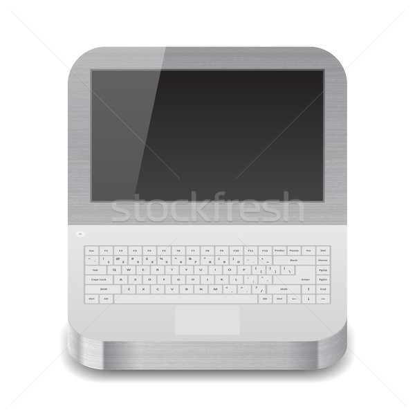 Icona laptop nero display bianco texture Foto d'archivio © ildogesto