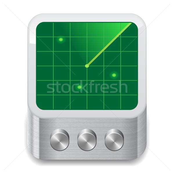 Icon radar witte ontwerp teken grafische Stockfoto © ildogesto