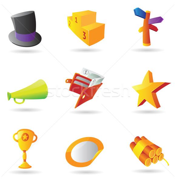 Zdjęcia stock: Ikona · działalności · metafora · pracy · projektu · pomarańczowy