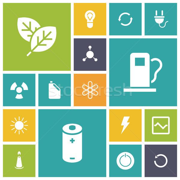 Foto d'archivio: Design · icone · energia · ecologia · tecnologia · web