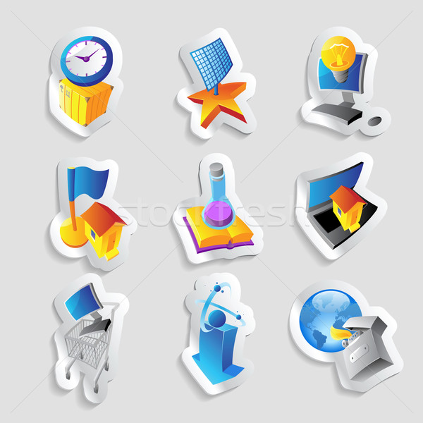 Icons for industry and ecology Stock photo © ildogesto