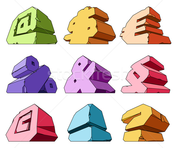 Multicolored alphabet: symbols Stock photo © ildogesto