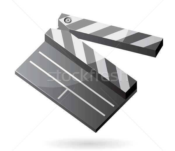 Isometric icon of clapper board Stock photo © ildogesto