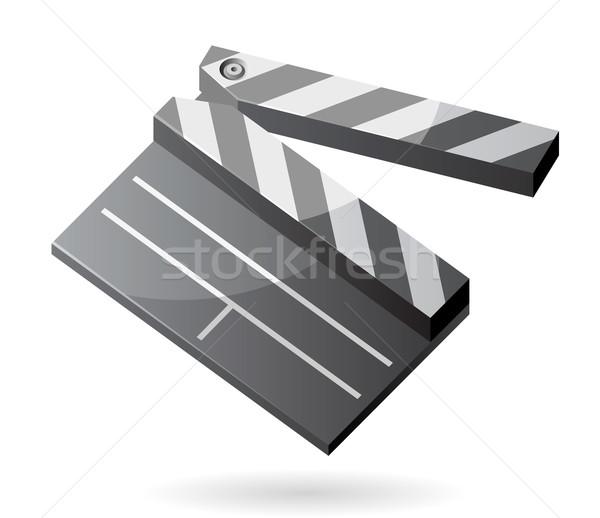 Izometrikus ikon tábla terv mozi fekete Stock fotó © ildogesto
