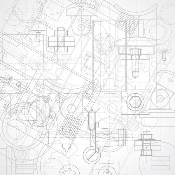 промышленных аннотация строительство металл стали белый Сток-фото © ildogesto