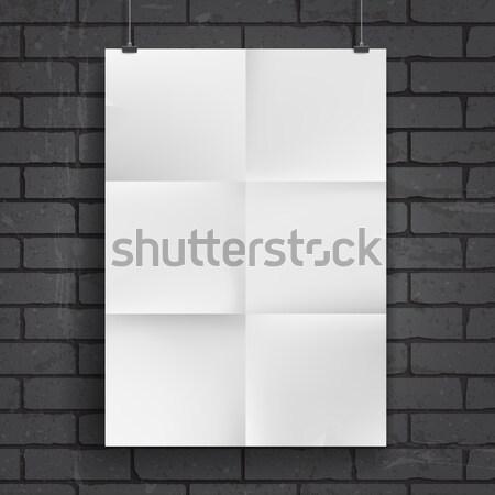 Blank paper poster Stock photo © ildogesto