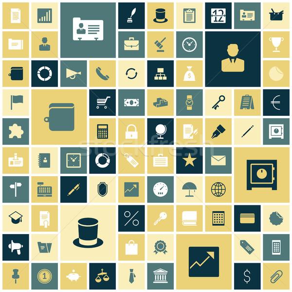 Zdjęcia stock: Projektu · ikona · działalności · biuro · pracy · ziemi