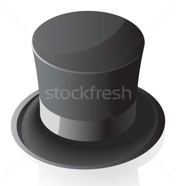Isometric icon of top hat Stock photo © ildogesto