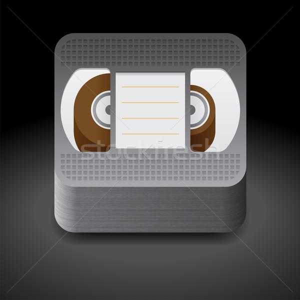 Ikona wideo kaseta ciemne tekstury film Zdjęcia stock © ildogesto