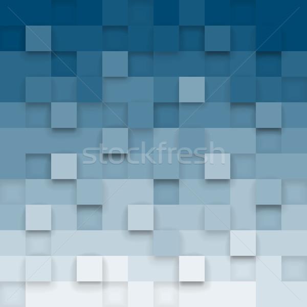 Meetkundig 3D abstract kleurrijk ontwerp Stockfoto © ildogesto