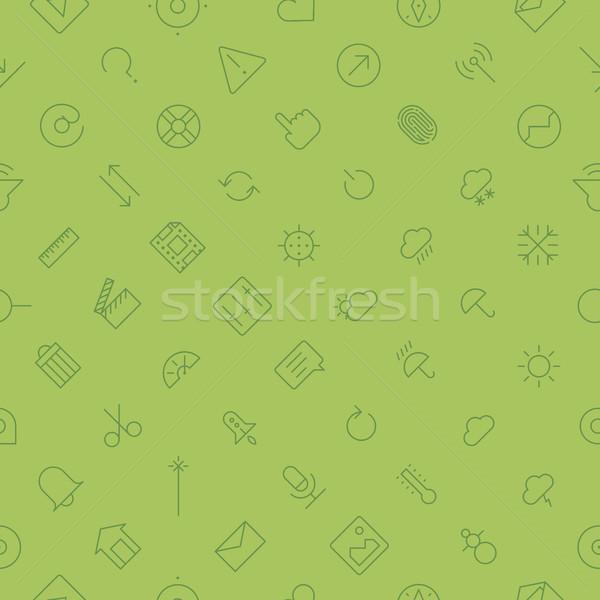 Végtelen minta felhasználó interfész technológia vékony vonal Stock fotó © ildogesto