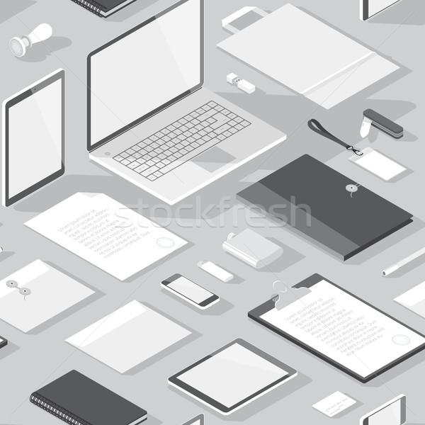 Seamless background pattern for business Stock photo © ildogesto