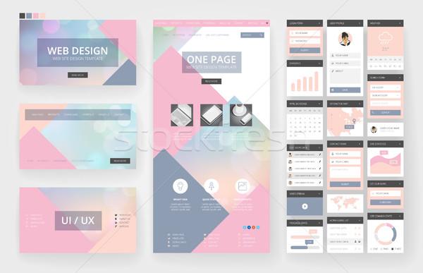 Design do site modelo interface elementos site um Foto stock © ildogesto
