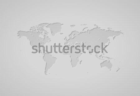 Мир карта серый Мир Европа фоны графических Сток-фото © ildogesto