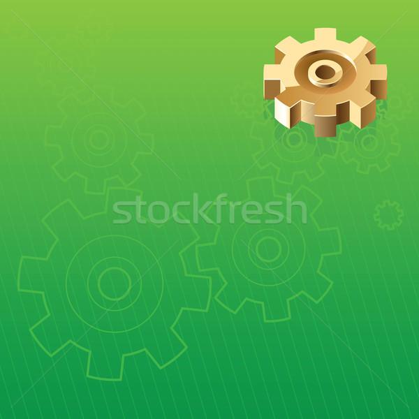 Ipari absztrakt építkezés arany acél kerék Stock fotó © ildogesto