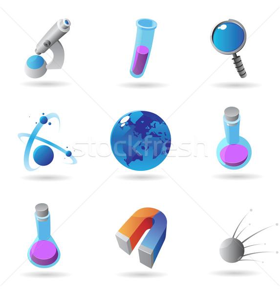 Zdjęcia stock: Ikona · nauki · technologii · ziemi · edukacji · przemysłu