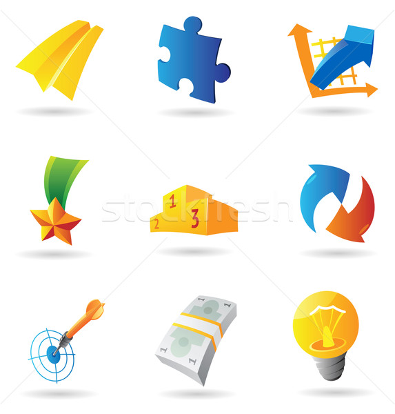 Icons for business symbols Stock photo © ildogesto