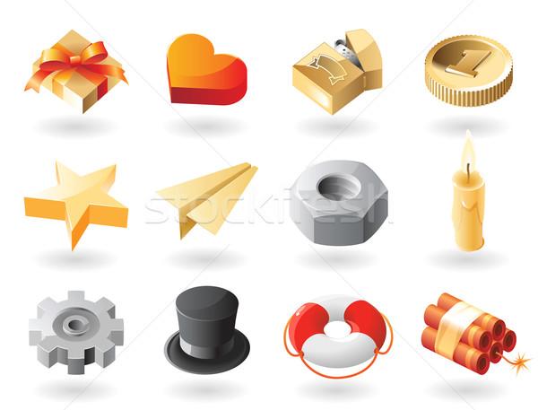 Isometric-style miscellaneous icons Stock photo © ildogesto