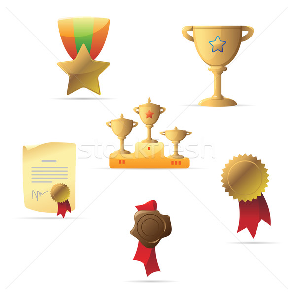 Icons for awards Stock photo © ildogesto