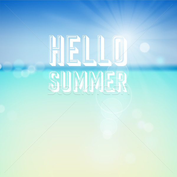 Summer holiday tropical beach background Stock photo © ildogesto