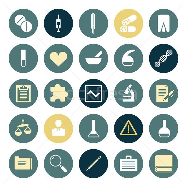 Terv ikonok orvostudomány toll háló tudomány Stock fotó © ildogesto