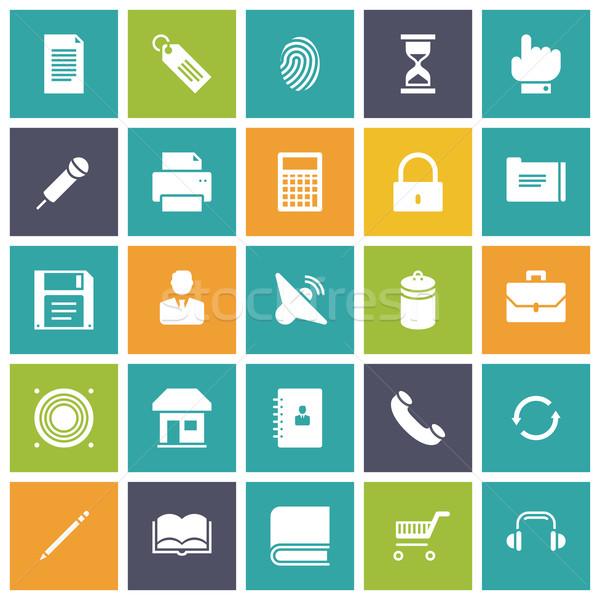 Diseno iconos usuario interfaz ordenador música Foto stock © ildogesto