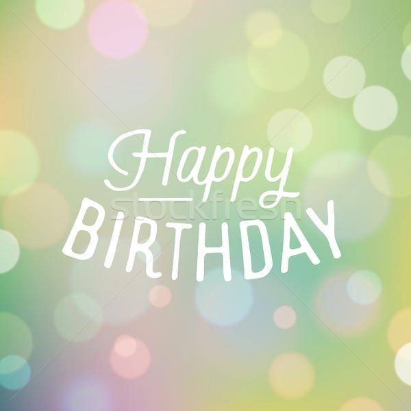 ヴィンテージ スローガン 歳の誕生日 ぼけ味 幸せ ストックフォト © ildogesto