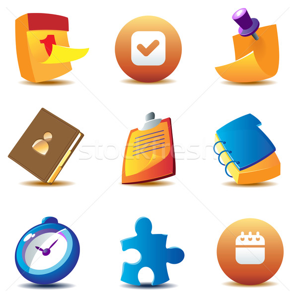 Business planning icons Stock photo © ildogesto