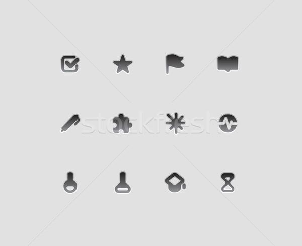 Icons for education and science Stock photo © ildogesto