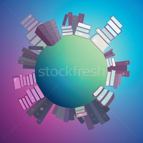 Colorful world of books Stock photo © ildogesto