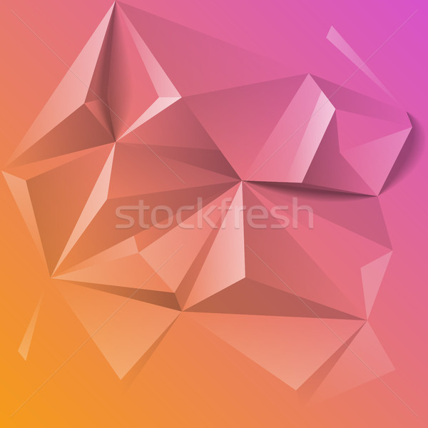 Abstract colorful geometric low poly background Stock photo © ildogesto