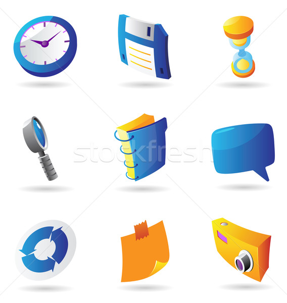 Icons for interface Stock photo © ildogesto