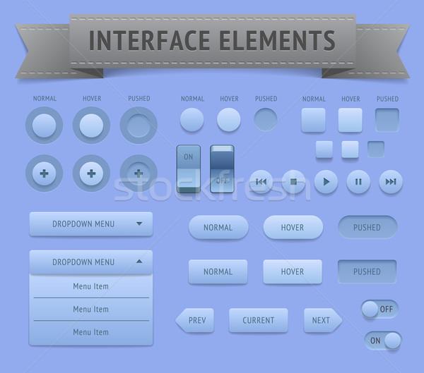 Usuário interface elementos vetor eps10 arquivo Foto stock © ildogesto