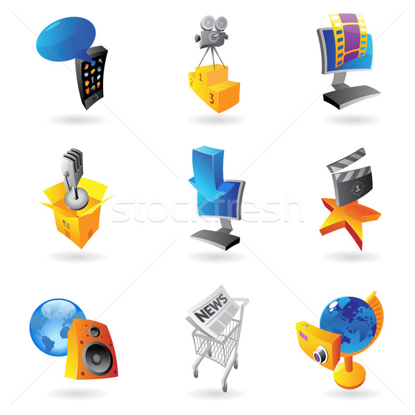 Icons for media Stock photo © ildogesto