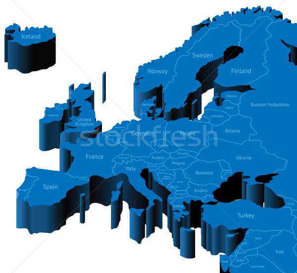 3d map of Europe Stock photo © ildogesto