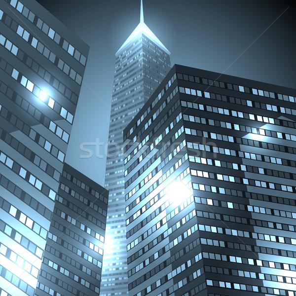 Centrum wieżowce miasta działalności miejskich biuro Zdjęcia stock © ildogesto