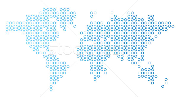 Punteado mapa del mundo azul mapa Europa fondos Foto stock © ildogesto