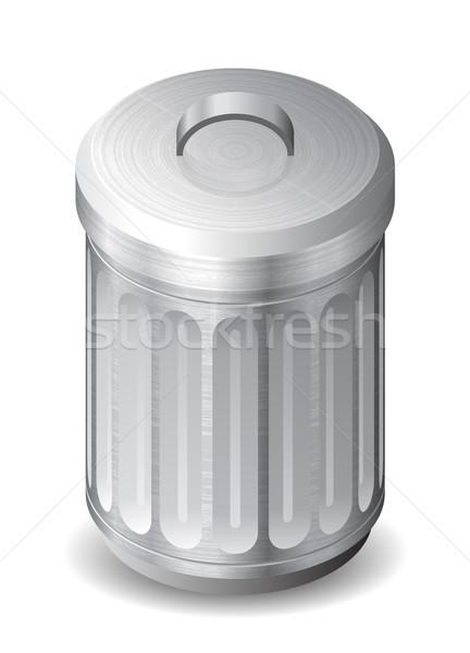 икона мусорный ящик белый текстуры технологий веб Сток-фото © ildogesto