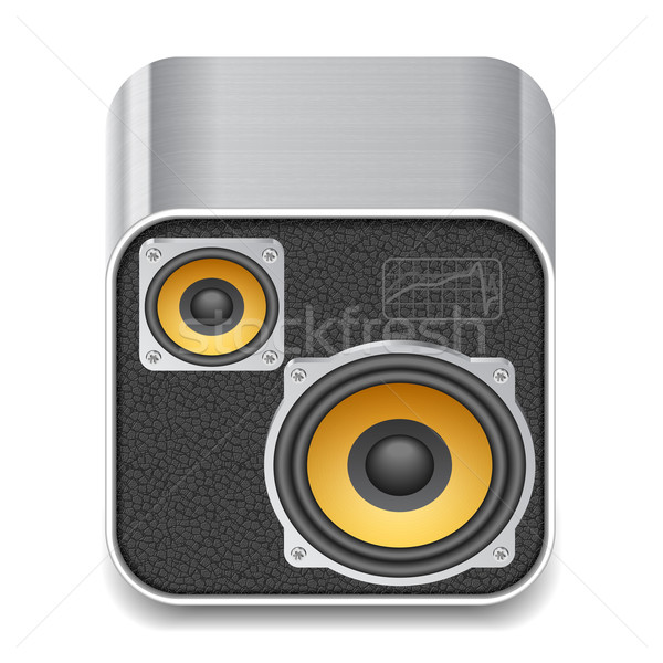 Icon for speakers Stock photo © ildogesto