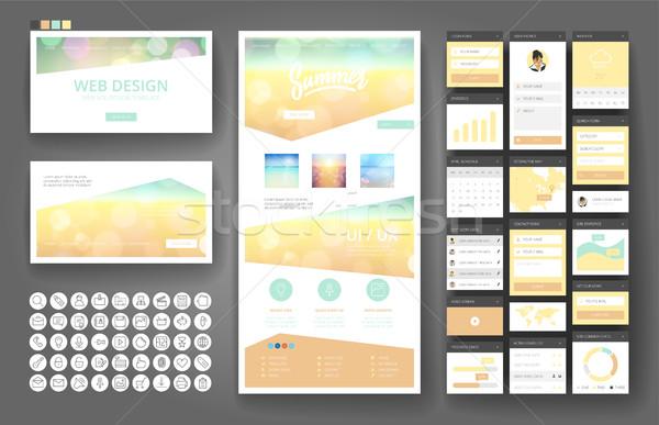 веб-дизайн шаблон интерфейс Элементы сайт один Сток-фото © ildogesto
