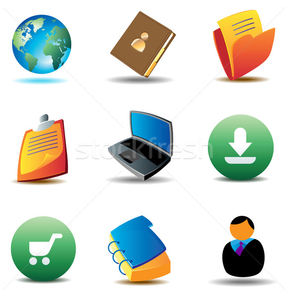 E-business icons Stock photo © ildogesto