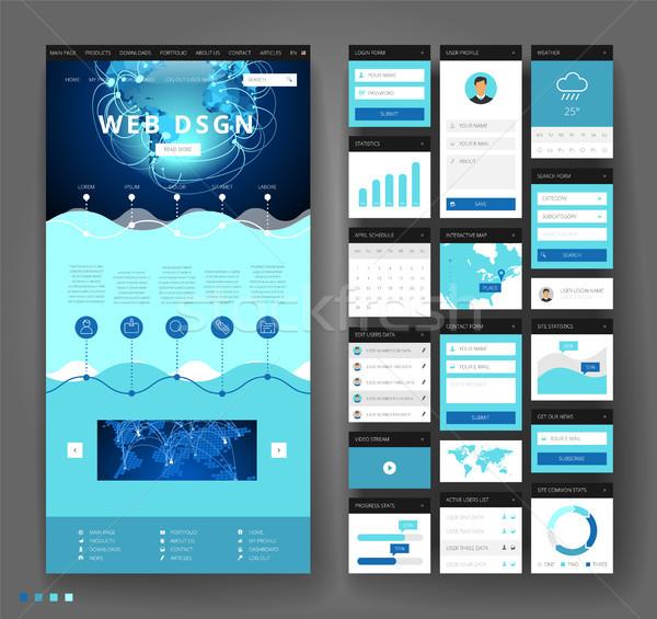 Web sitesi şablon dizayn arayüz elemanları Stok fotoğraf © ildogesto