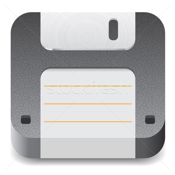 Icon for floppy disk Stock photo © ildogesto