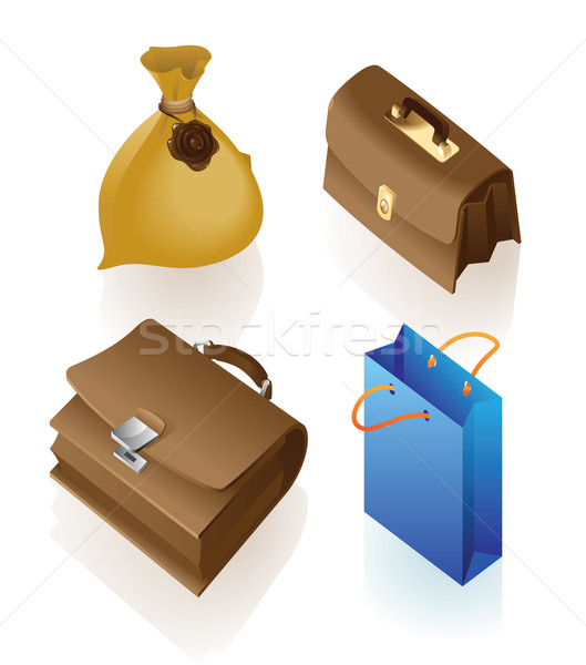 Isometric icon of various bags Stock photo © ildogesto