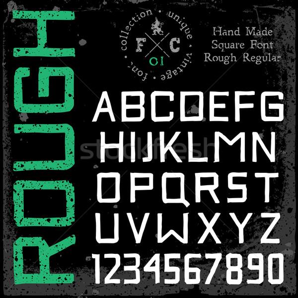 ручной работы ретро шрифт квадратный грубо регулярный Сток-фото © ildogesto