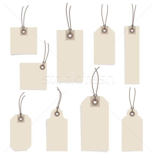 Paper tag set Stock photo © ildogesto