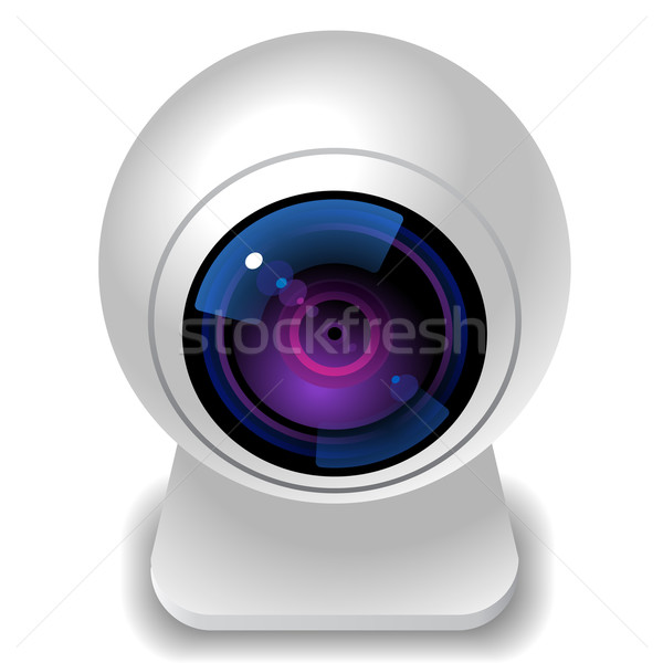 Icon for webcam Stock photo © ildogesto