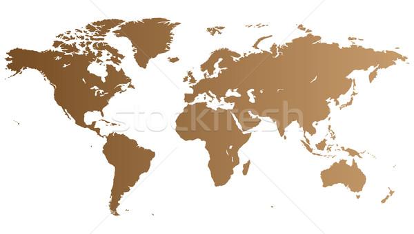 Brown World map Stock photo © ildogesto